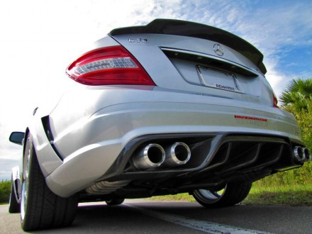 RENNtech Carbon Fiber | Rear Diffuser | w/ Integrated Exhaust Tips | 204 – C Class