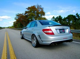 RENNtech Carbon Fiber Rear Widebody Conversion Kit for 204 C 63 AMG