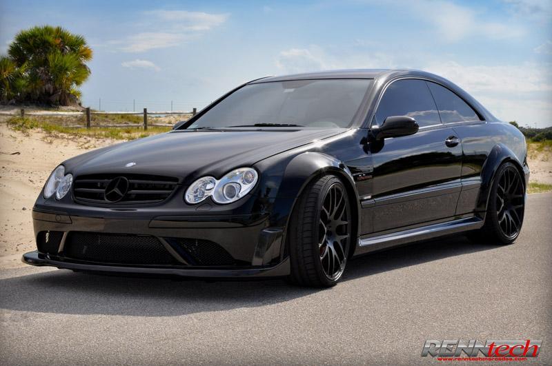 Renntech carbon fiber front splitter 209 clk 63 for Mercedes benz clk black series body kit