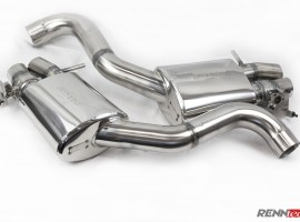 RENNtech | Stainless Steel Sport Mufflers w/Electronic Valves | S 63 AMG Coupe | C217 | 5.5L BiTurbo V8 | M157