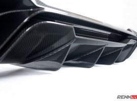 RENNtech | Carbon Fiber | Rear Diffuser w/ CMC Tips | 212 – E Class Sedan | FaceLift 2014+