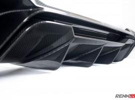 RENNtech | Carbon Fiber | Rear Diffuser w/ CMC Tips | 212 – E Class Sedan | FaceLift 2014+